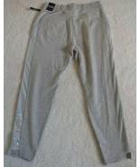Victoria's Secret Sport Mesh Side Metallic VS Logo Light Gray Sweatpants... - $27.52