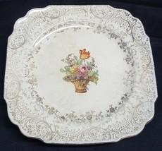 I) Royal China Warranted 22kt Gold Floral Flower Decorative Plate Platte... - $5.93