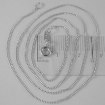 18K WHITE GOLD CHAIN 17.7 MINI CUBAN CURB GOURMETTE LINK 0.9 MM, MADE IN ITALY image 1