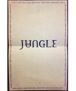 """Jungle's """"Forever"""" 11 x 17 music promo poster - $7.95"""