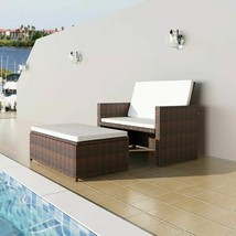 vidaXL 5 Piece Garden Sofa Set Poly Rattan Wicker Brown Outdoor 2 Seater... - $202.99