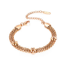 Glamorousky Fashion and Elegant Plated Rose Gold Small Daisy 316L Stainl... - $27.98