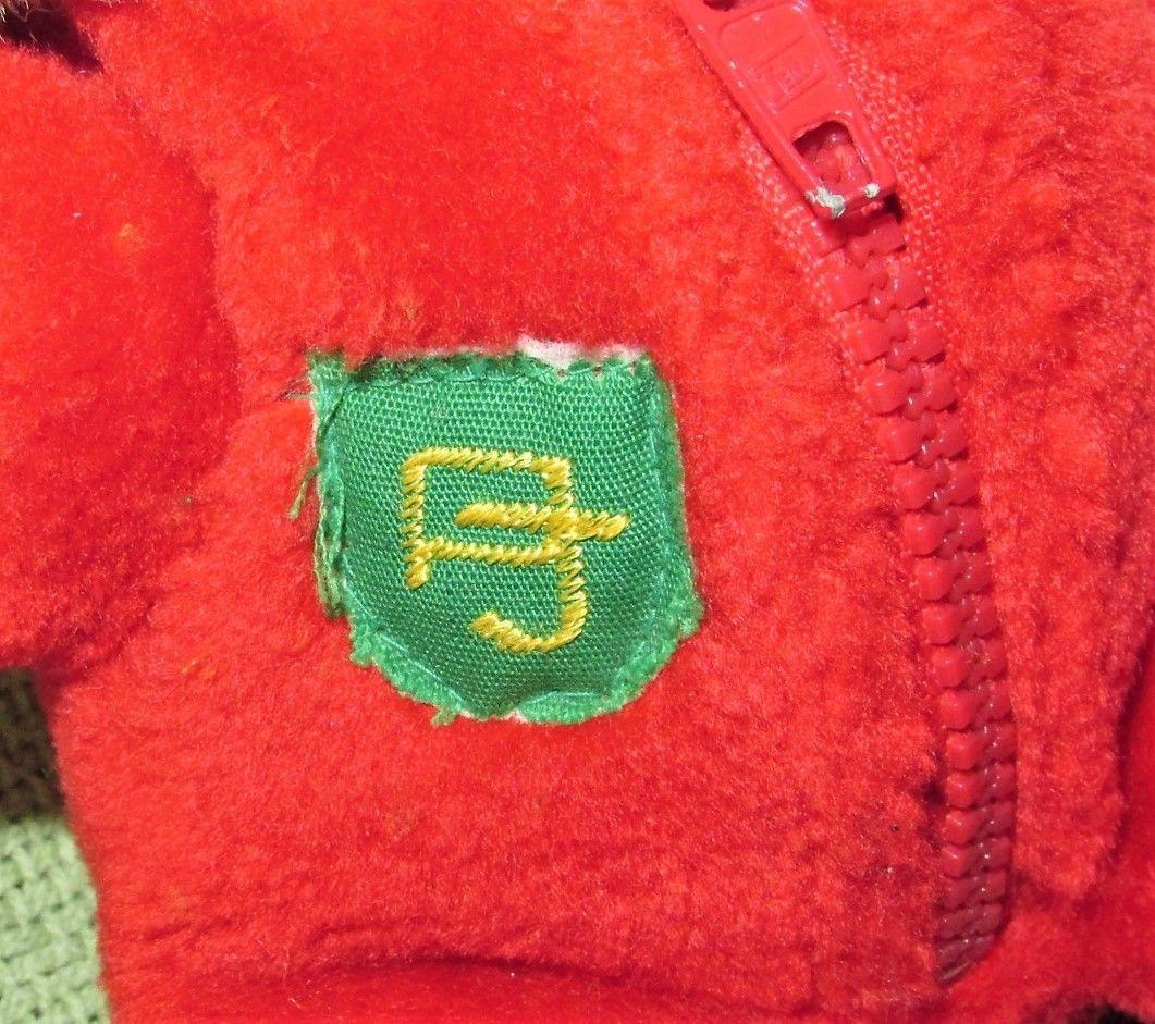 "10"" Vintage ENESCO PJ TEDDY Plush Bear BABY'S FIRST CHRISTMAS Stuffed KOREA RARE image 4"