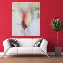 Framed Canvas Painting - A Surge of Pink - Abstract Theme BeautifuL Pai... - $199.00