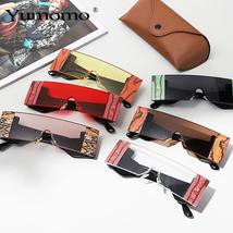 YUMOMO Fashion Oversized Square Rimless Sunglasses Women Brand Designer Flat Big image 6