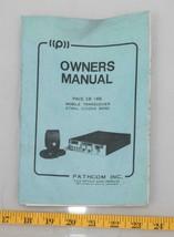 Vintage Pathcom Transceptor Móvil Ciudadanos Prohibido CB Radio Manual V... - $31.37