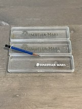 3 Vintage Plastic Staedtler Mars Duralar and Lumograph Pencils Cases & 1 Pencil - $12.00