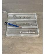 3 Vintage Plastic Staedtler Mars Duralar and Lumograph Pencils Cases & 1... - $12.00