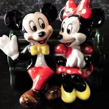 1983 Tokyo Disneyland Mickey & Minnie Pottery Figure Vintage Ornament Doll - $391.05