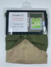 "Achim Home Furnishings Green/Camel  Darcy Window Curtain Valance, 58"" x 14"" - $13.99"