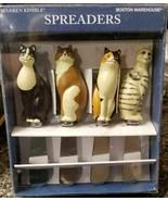 4 set Warren Kimble Boston Warehouse 2001 Stainless Steel Cat Spreaders ... - $16.82