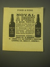 1966 Noval 61 LB Port Ad - Noval a Port of Mature Perfection - $14.99