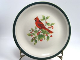4 Thomson Pottery China Cardinal Dinner Plates Winter Holiday Bundle of 4 - $22.31