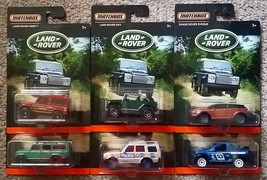 MATCHBOX Set of 6 LAND ROVER diecast toys NIB Defender Discovery Range E... - $15.00