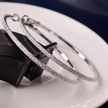 6CM Hoop Round Earring Jewelry Diamante Rhinestone Large Ear Ring Fashio... - $15.56