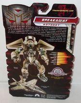 ✰ 2008 Transformers ROTF Revenge of the Fallen Breakaway Deluxe Class Sealed MOC image 3