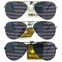 Kids Child Size Wire Rim Flag Imprint Lens Police Style Pilots Sunglasses - $8.95