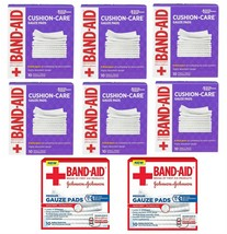 8 Band-Aid Johnson & Johnson Small and Medium Gauze Pads,10 Count, Sterile Pads - $31.16