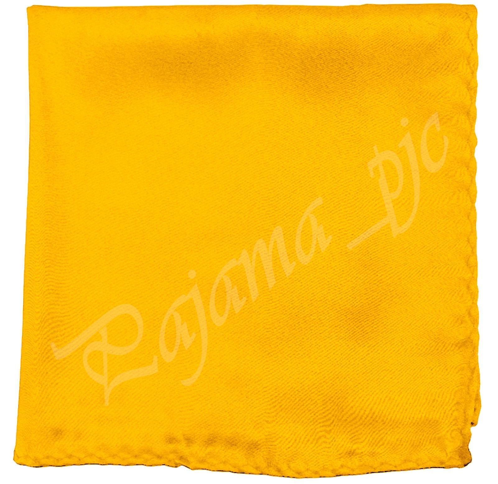 "12"" x 12"" Men's Satin Solid Hankie  Handkerchief Pocket Square Hanky only Prom"