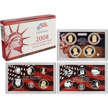 2008-S 90% Silver Proof Set United States Mint Original Government Packa... - $59.99