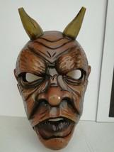 Antique Nikolaus Krampus wood handcarved BLACK FOREST Devil Mask Gothic oddities image 2