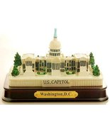 US Capitol Poly Replica Resin with wood base - Washington DC Souvenirs - $14.99