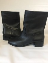 New Michael Kors Leather  Boots Mid Calf Bootie Shoes Black MK Size 8.5 ... - $79.20