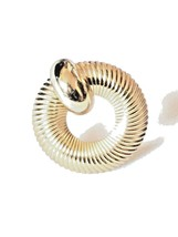 Napier Gold Tone Brooch Pin Swirl Round Women's Vintage Ornament Accesso... - $9.89