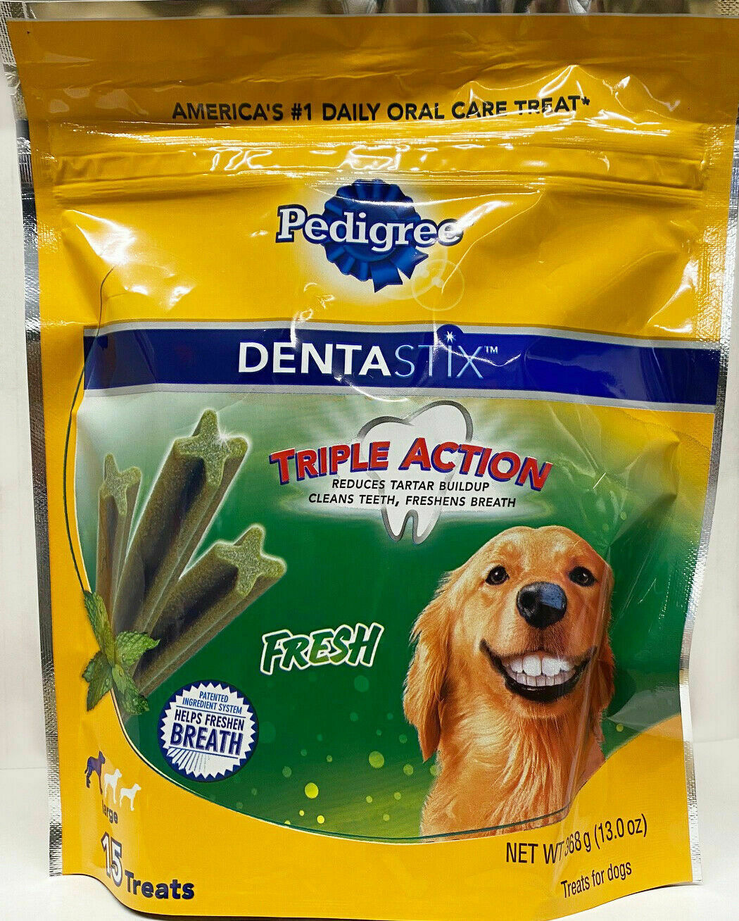 Pedigree DENTASTIX Fresh treats for Large 30+ pound Dogs, 15 treats