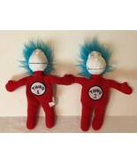 Dr Seuss Thing 1 One Thing 2 Two Stuffed Plush Cat In The Hat Kohls Offi... - $17.99