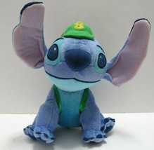 "Disney Stitch Lilo and Stitch 8"" Plush Stuffed Lovey Wearing Cap and Bac... - $19.79"