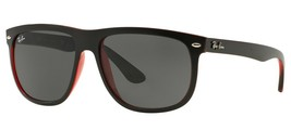 Ray Ban Highstreet Mens Sunglasses RB4147 617187 Top Mat Black On Red 56mm - $121.25