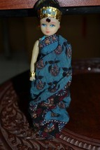 VINTAGE HAND MADE DOLL IN TRADITIONAL INDIAN CLOTHES,1970s.ONE OF A KIND - $13.01