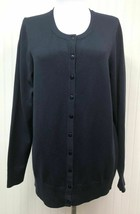 Charter Club Women's Plus Size Button Down Sweater Deepest Navy Long Sleeves - $11.02