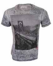 NEW LEVI'S STRAUSS MEN'S CLASSIC COTTON SAN FRANCISCO BRIDGE T-SHIRT SHIRT GRAY image 1