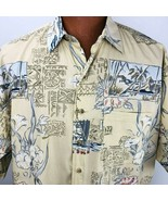 Sportif Hawaiian Aloha Large Kon Tiki Shirt Tapas House Sail Boat Floral  - $44.54