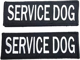 Leashboss Service Dog Patches for Vest - Embroidered 2 Pack - Hook and L... - £8.25 GBP