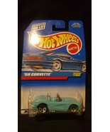 New Vintage 1994 Hot Wheels #780 1958  Corvette Convertible Car - $6.93