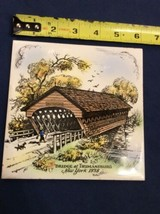 Vintage Trivet Ceramic Accent Wall Tile Trumansburg 1838 New York - Brid... - $10.93