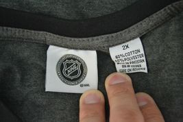 NHL Womens Calgary Flames 3/4 Raglan Sleeve Distress Logo T-Shirt Sz 2X Gray image 6