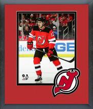 Nico Hischier 2017-18 New Jersey Devils #13 -11x14 Team Logo Matted/Fram... - $42.95