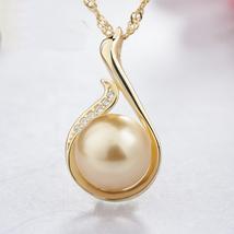 Fashion Women Sterling Silver Zircon Swan Pearl Pendant image 2