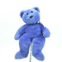 TY Beanie Buddy Blue Bear 14 inches Clubby 1999 Stuffed Animal Collectible - $15.85