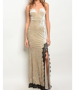 Fashion Womens Lace Velvet Strapless V-Neck Evening Gown Maxi Dresses Be... - $45.00