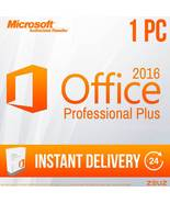 Microsoft Office 2016 PRO Professional Plus 1PC Office2016pro 60Sec Deli... - $49.99