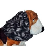 Black White Polka Dots Cotton Dog Snood by Howlin Hounds Size Large Bass... - $12.50