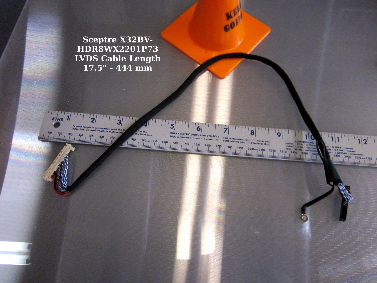 "Primary image for Sceptre X32BV-HDR8WX2201P73 LVDS Cable Length 17.5"" - 444 mm"