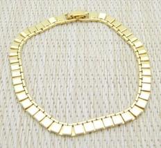 """MONET Unique Square Flare Chain Link Bracelet Vintage 7.5"""" - $14.85"""