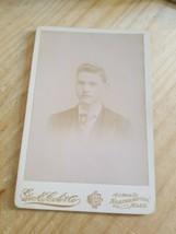 GEO E.COLE CO. NORTHAMPTON,MASS. VINTAGE 19TH CENTURY CABINET PHOTO... - $28.04