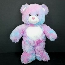 "Build A Bear Pink Purple Blue Pastel Swirl 16"" Plush Valentine Heart Nos... - $18.80"